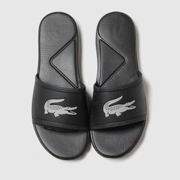 Lacoste Black & Silver L.30 Slide Unisex Junior