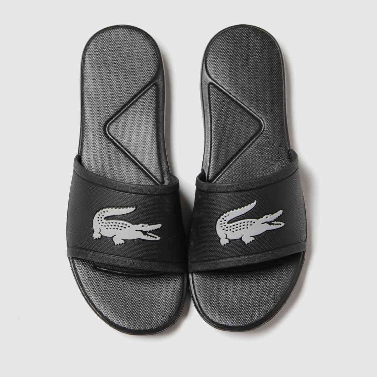 Lacoste Black & Silver L.30 Slide Trainers Junior