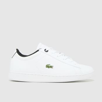 Lacoste White & Black Carnaby Evo Unisex Junior