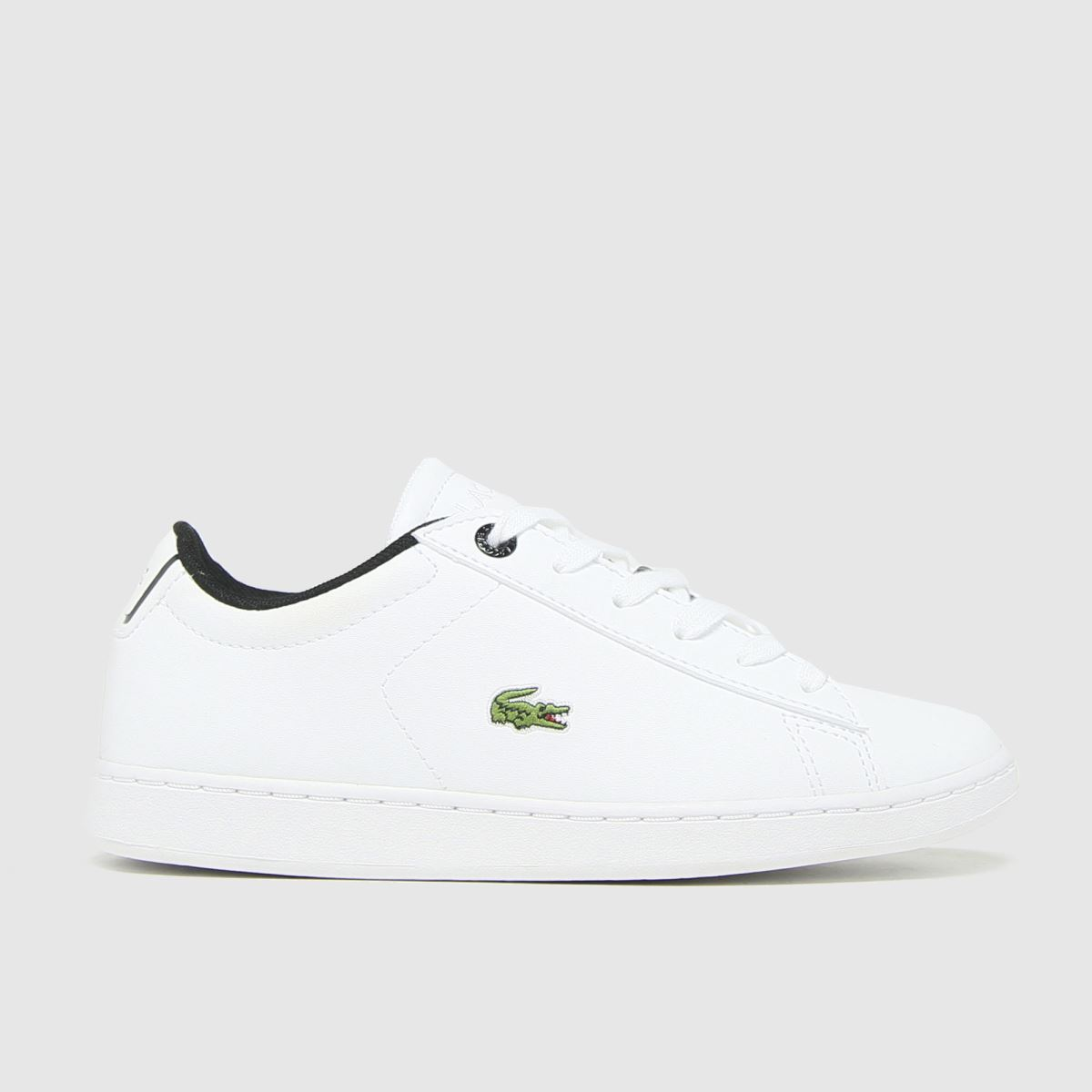 Lacoste White & Black Carnaby Evo Trainers Junior