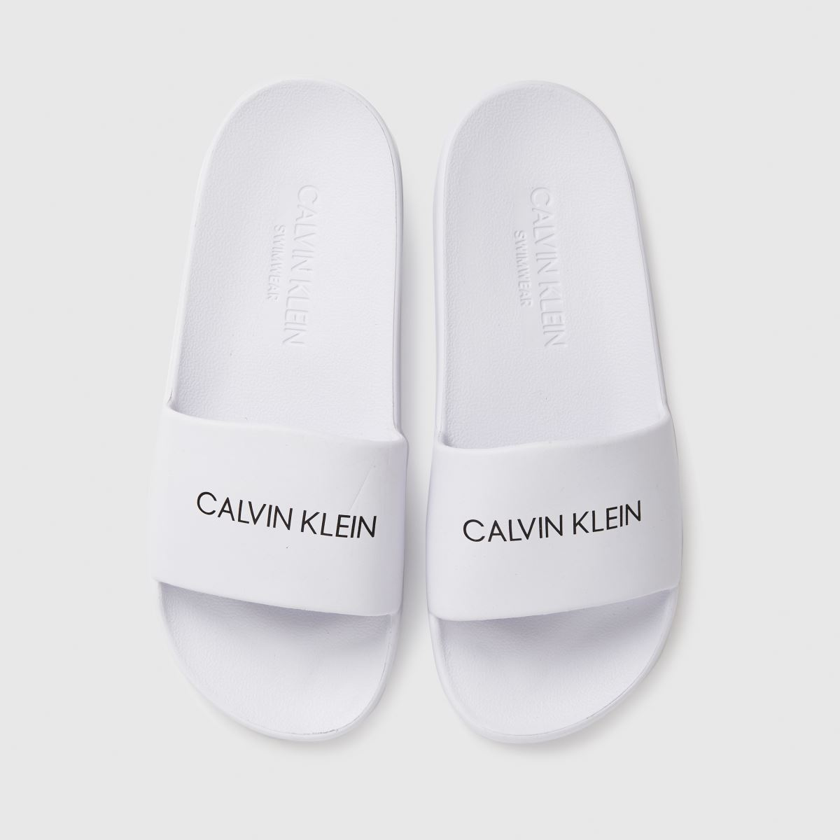 CALVIN KLEIN White Slides Trainers Junior