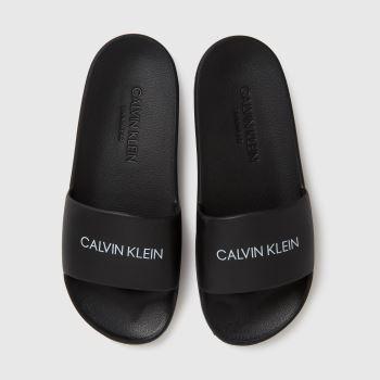 CALVIN KLEIN Black Slides Unisex Junior