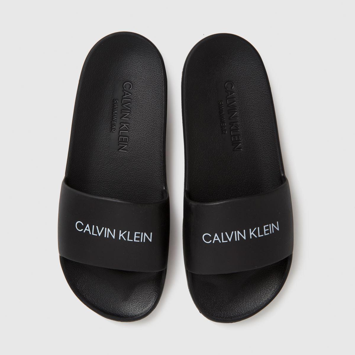 CALVIN KLEIN Black Slides Sliders Junior