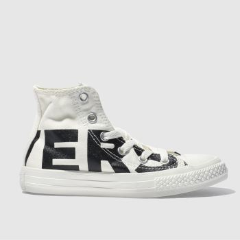 CONVERSE NATURAL ALL STAR HI WORDMARK TRAINERS JUNIOR