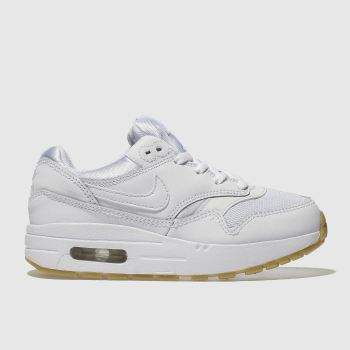 Nike White Air Max 1 Unisex Junior