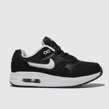 Nike Black & White Air Max 1 Unisex Junior