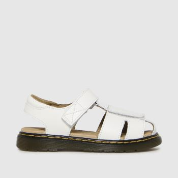 Dr Martens White Moby Ii Unisex Junior