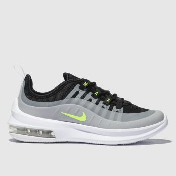 NIKE BLACK & GREY AIR MAX AXIS TRAINERS JUNIOR