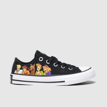 Converse Black & White All Star Lo Scooby Unisex Junior