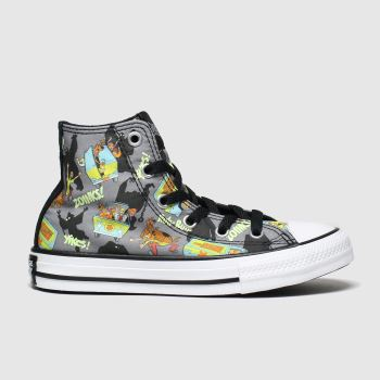 Converse Black & Green All Star Hi Scooby Unisex Junior