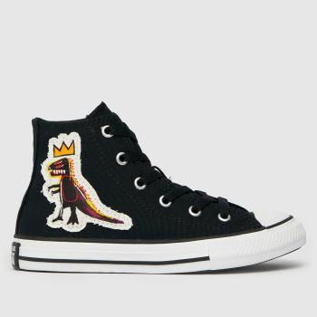 Converse Black & White Hi Basquiat Unisex Junior