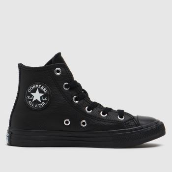 Converse Black Hi Leather Unisex Junior