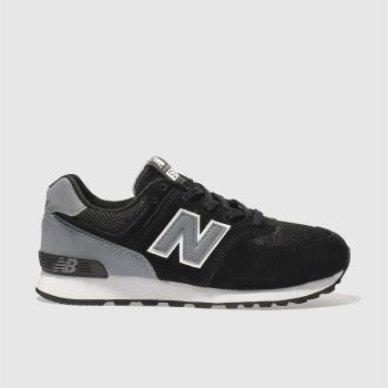 New Balance Black 574 Unisex Junior
