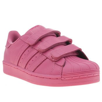 superstar slip on kids Pink