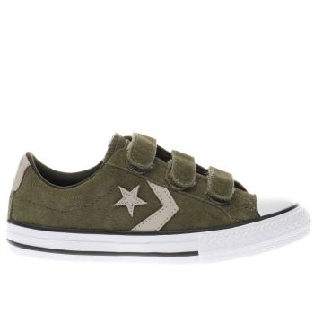 Converse Khaki Star Player 3V Ox Unisex Junior