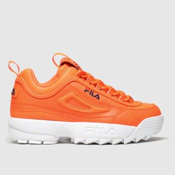 Fila Orange Disruptor Ii Neon Unisex Junior#