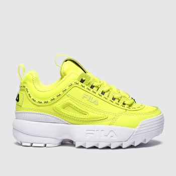 Fila Yellow Disruptor Ii Repeat Unisex Junior