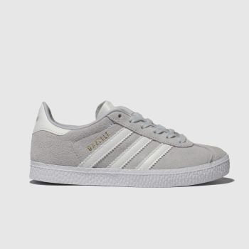 Adidas Light Grey GAZELLE Unisex Junior