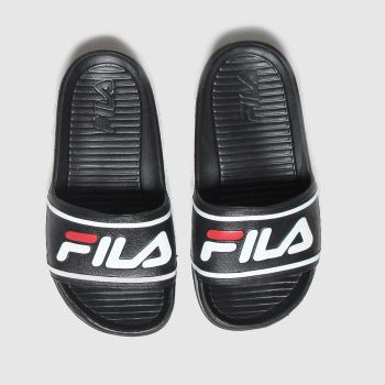 Fila Black & White Sleek Slide St Unisex Junior