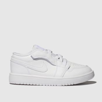 Nike Jordan White 1 Low Unisex Junior