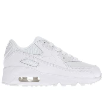 Kids Unisex white nike air max 90 mesh trainers  c824fed1e0598