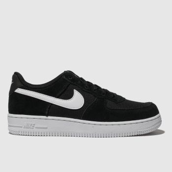 Nike Black & White Air Force 1 Unisex Junior