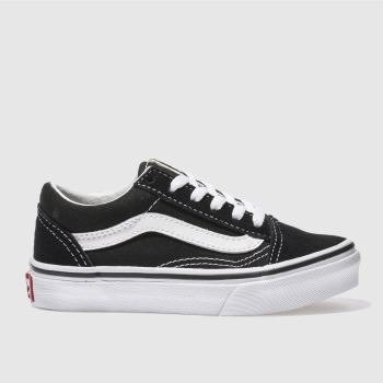Vans Black   White Old Skool Unisex Junior 2dcd72b8d