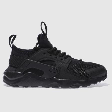 Kids Unisex Black Nike Huarache Run Ultra Youth Schuh