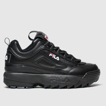 Fila Black Disruptor Ii Premium Unisex Junior