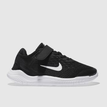 Nike Black & White Free Rn 2018 Unisex Junior
