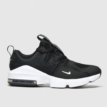 nike black & white air max infinity trainers junior