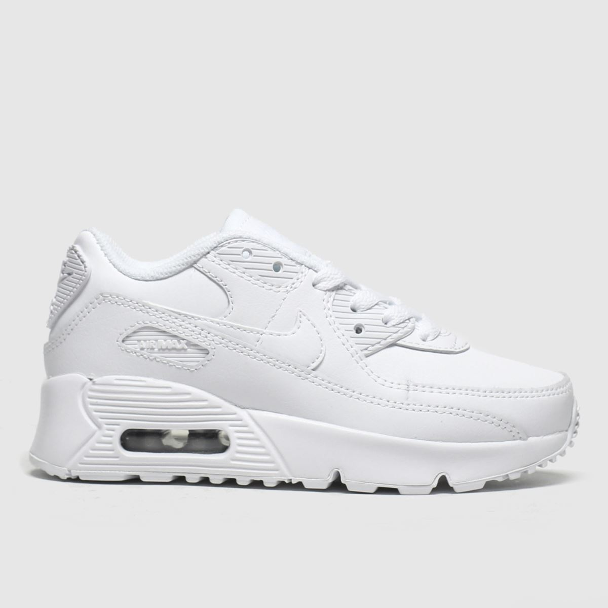 Nike white air max 90 ltr trainers junior