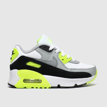 Nike White & Black Air Max 90 Ltr c2namevalue::Unisex Junior