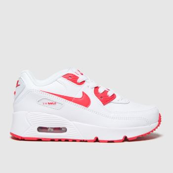 Nike White & Red Air Max 90 Ltr Unisex Junior#