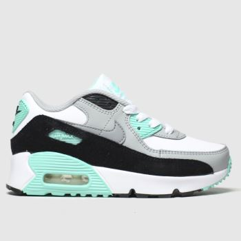 Nike Weiß-Grau Air Max 90 Ltr Unisex Junior