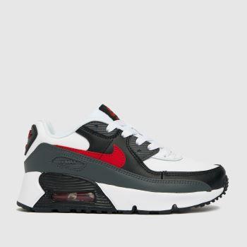 Nike Black & Grey Air Max 90 Ltr Unisex Junior