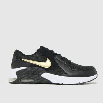Nike Black & Gold Air Max Excee Unisex Junior