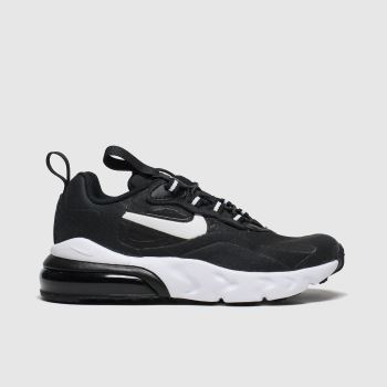 Nike Black & White Air Max 270 React Jnr c2namevalue::Unisex Junior#promobundlepennant::€5 OFF BAGS