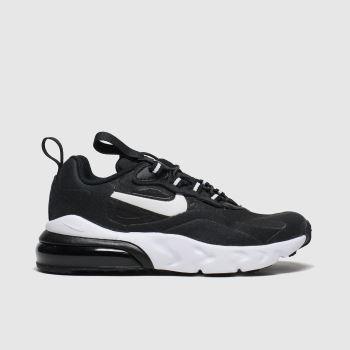 Nike Black & White Air Max 270 React Jnr Unisex Junior