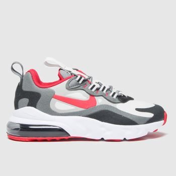 Nike Black & Red Air Max 270 React Unisex Junior#