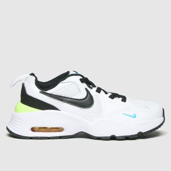 Nike white & black air max fusion trainers junior