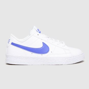 Nike White & Blue Blazer Low Unisex Junior