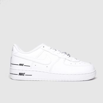 Nike White & Black Air Force 1 Lv8 3 Unisex Junior
