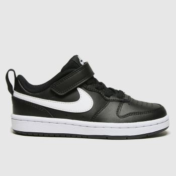 Nike Black & White Court Borough Low 2 Unisex Junior