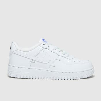 Nike White & Silver Force 1 Lv8 Ho20 Unisex Junior#
