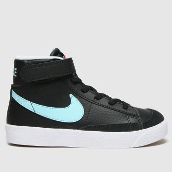 Nike Black and blue Blazer Mid 77 Unisex Junior