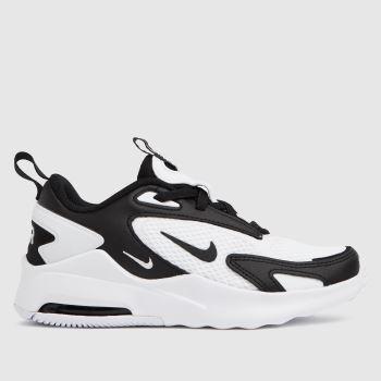 Nike White & Black Air Max Bolt Unisex Junior