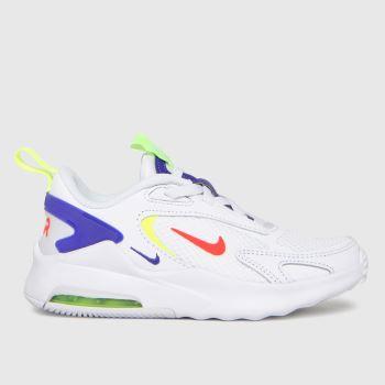 Nike White & Navy Air Max Bolt Unisex Junior