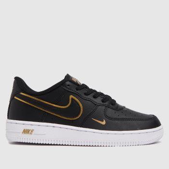 Nike Black & Gold Air Force 1 Lv8 Unisex Junior
