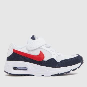 Nike White & Black Air Max Sc Unisex Junior